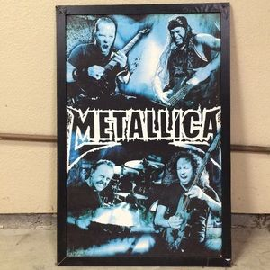 Metallica framed poster